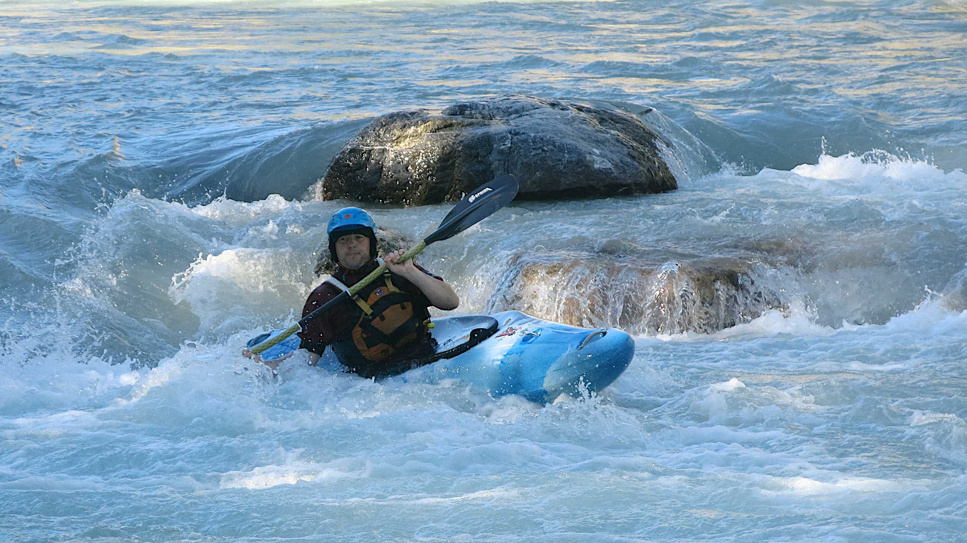 Learning to Kayak whitewater