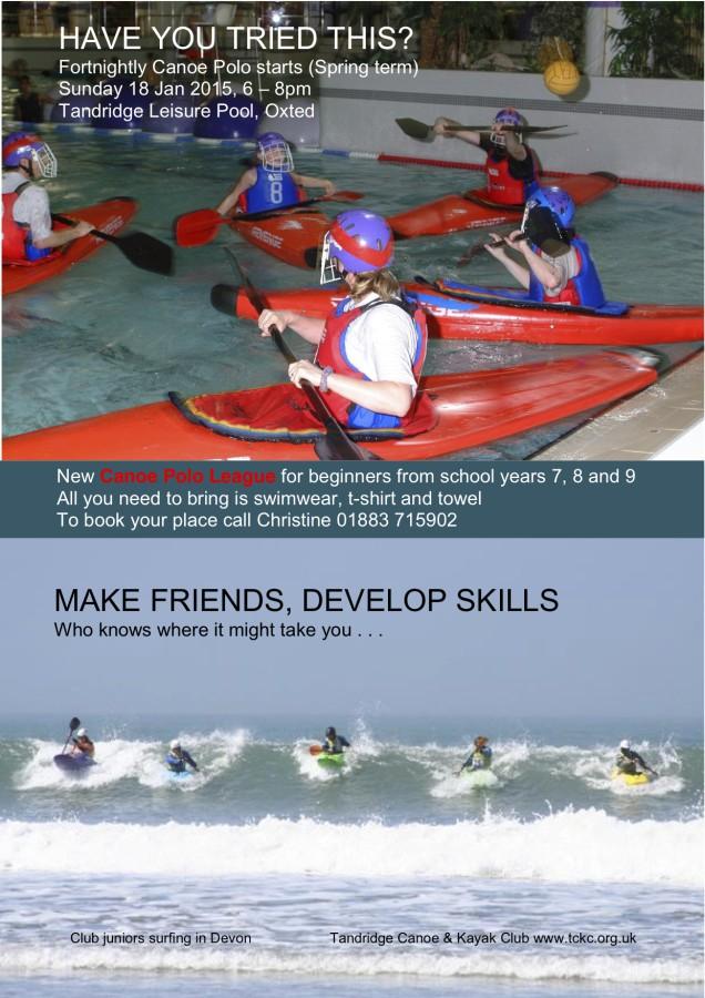 New Beginners Canoe Polo League in January 2015